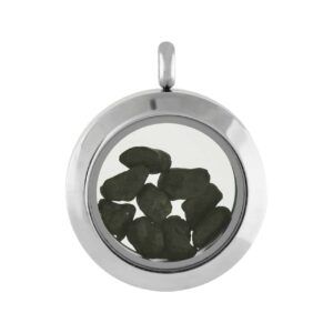 Starborn Meteorite Window Pendant in Stainless Steel