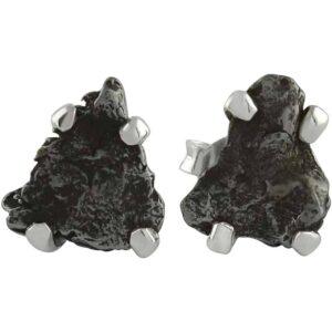 Starborn Sterling Silver Campo del Cielo Meteorite Nugget Post