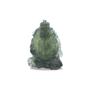 Hand Carved Moldavite Ganesh 21ct
