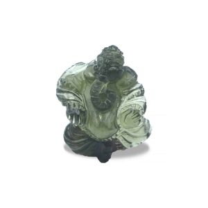 Hand Carved Moldavite Ganesh 22ct