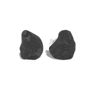 Starborn Rough Agoudal Meteorite Post Earrings in Sterling Silver – Large