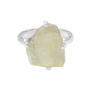 Starborn Libyan Desert Glass Ring in Sterling Silver