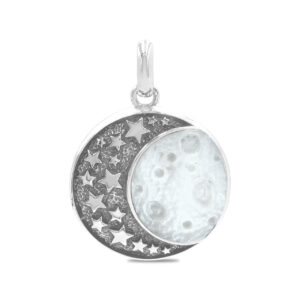 Starborn Mother of Pearl Moon & Stars Pendant in Sterling Silver