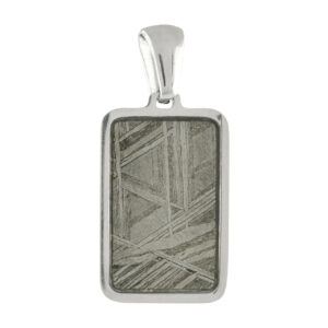 Starborn Muonionalusta Meteorite Rectangular Stainless Steel Pendant – mini